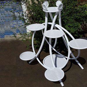 استند-فلزی-گل-ویلا-سازه-سفید