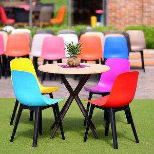 میز و صندلیی طرح رنگین کمان کد38