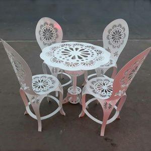 میز و صندلی گل رز کد68
