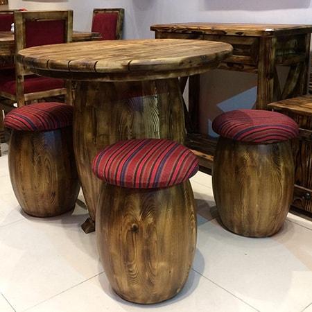 میز و صندلی طرح جنگلی